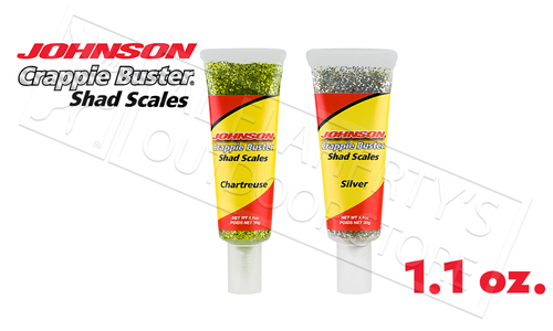 Johnson Crappie Buster Shad Scales Bait Scent, 1.1 oz Tube #CBSHSC