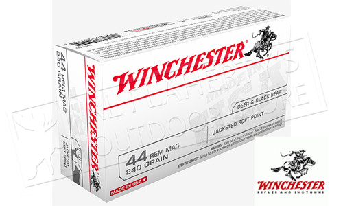 Winchester 44 Rem Mag White Box, JHP 240 Grain Box of 50 #Q4240