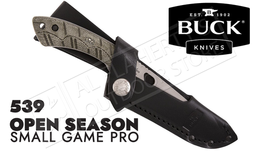 Buck Knives 539 Open Season Small Game Knife Pro with Sheath #539ODS-B
