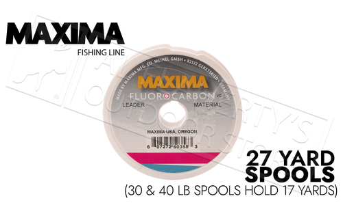 Maxima Leader Fluorocarbon Spools, 3 to 40 lbs, 25 to 15 Meters #MFCL