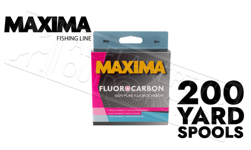 Maxima Fluorocarbon Fishing Line One Shot Spools, 6 to 20 lb, 200 Yard Spools #MOFLC