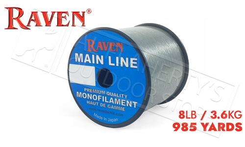 Raven Main Line Monofilament, Moss Green 8lb 985 Yards #RVML08-G