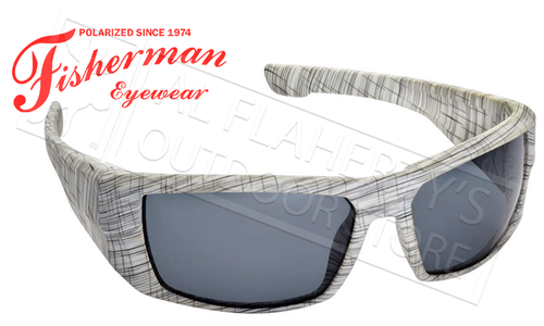 Fisherman Eyewear Bayou Polarized Sunglasses, White Terrain with Grey Lens #50280901