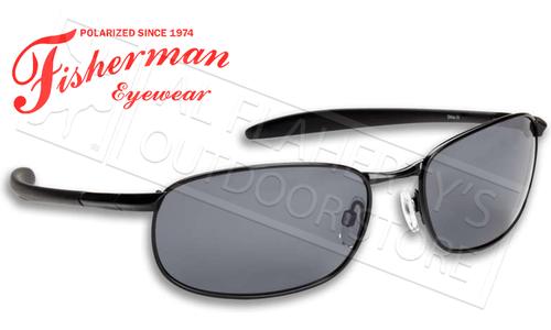 Fisherman Eyewear Blacktip Polarized Sunglasses, Metal with Grey Lens #50080001