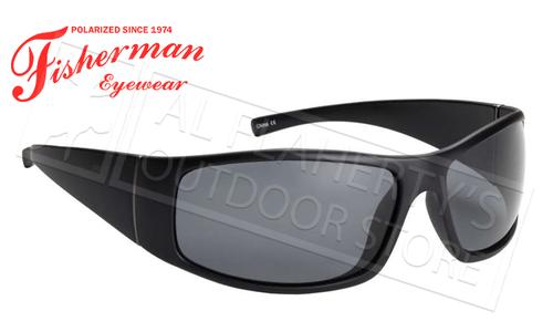 Fisherman Eyewear Bluefin Polarized Glasses, Matte Black Frame with Gray Lens #50100001