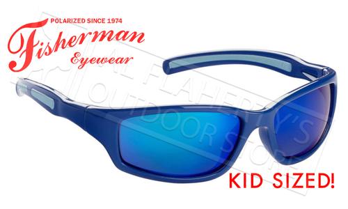 Fisherman Eyewear Bluegill Kids Polarized Sunglasses, Royal Blue with Blue Mirror Lens #50543431