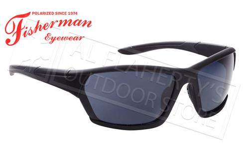 Fisherman Eyewear Breeze Polarized Glasses, Matte Black Frame with Gray Lens #50523001