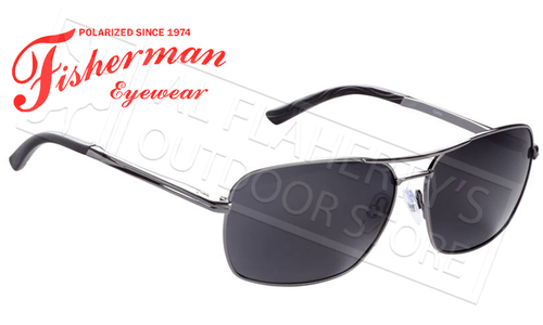 Fisherman Eyewear Chinook Polarized Sunglasses, Grey with Grey Lens #50532301