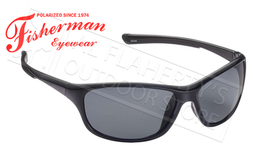 Fisherman Eyewear Cruiser Polarized Sunglasses, Black with Grey Lens #50470001