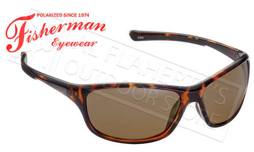 Fisherman Eyewear Cruiser Polarized Sunglasses, Tortoise with Brown Lens #50470202