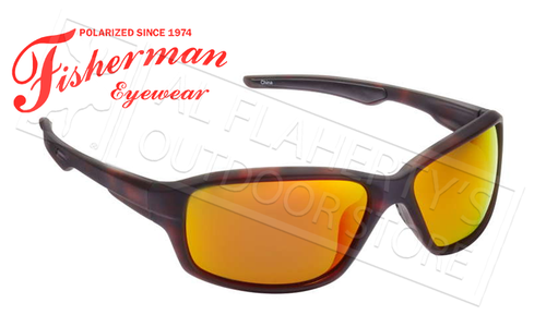 Fisherman Eyewear Dorado Polarized Sunglasses, Tortoise with Red Mirror Lens #50290222