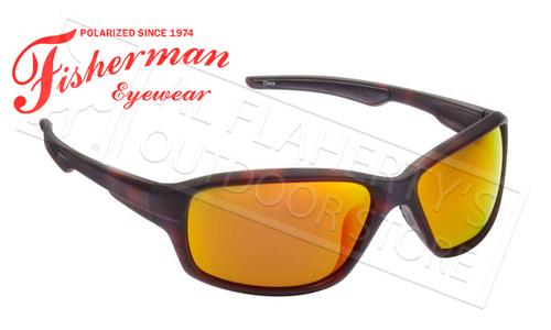Fisherman Eyewear Dorado Polarized Sunglasses, Tortoise with Red Mirror Lens #50290222