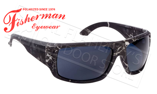 Fisherman Eyewear Everglade Polarized Sunglasses, Black Stormcloud with Grey Lens #50490001