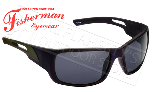 Fisherman Eyewear Hazard Polarized Sunglasses, Black with Grey Lens #50463001