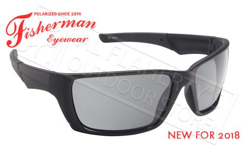 Fisherman Eyewear Hook Polarized Glasses, Black Frames with Gray Lens #50600001