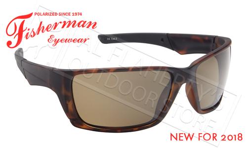 Fisherman Eyewear Hook Polarized Glasses, Tortoise Frame with Brown Lens #50603202