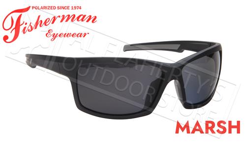 Fisherman Eyewear Marsh Polarized Sunglasses, Matte Black Frame with Gray Lens #50683001