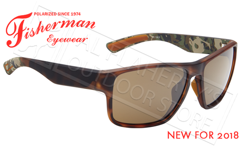 Fisherman Eyewear Maverick Polarized Glasses, Tortoise Frame with Brown Lens #50633202