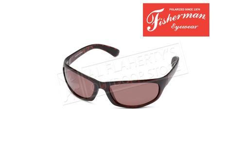 Fisherman Eyewear Permit Polarized Glasses, Brown Tortoise and Copper Lens #90619N