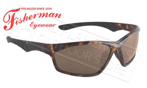 Fisherman Eyewear Polarsensor Delta Polarized Sunglasses, Crystal Brown Tortoise with Brown Lens #96100735