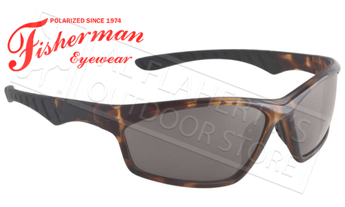 Fisherman Eyewear Polarsensor Delta Polarized Sunglasses, Crystal Brown Tortoise with Grey Lens #96100734