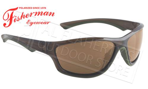 Fisherman Eyewear Rapid Polarized Glasses, Crystal Olive Frames with Brown Lens #96100725