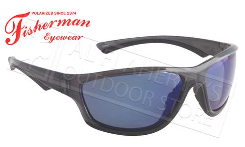 Fisherman Eyewear Rapid Polarized Glasses, Crystal Black Frame with Blue Mirror Lens #96100722