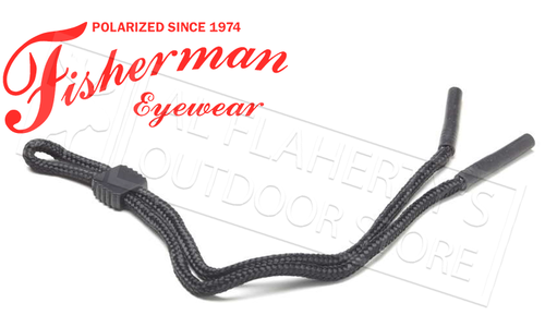 Fisherman Eyewear Rubber Tip Retaining Cord for Glasses, Black #90063