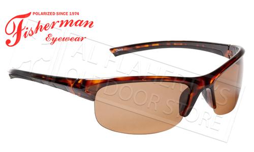 Fisherman Eyewear Tern Polarized Glasses, Shiny Tortoise Frame with Brown Lens #50590202