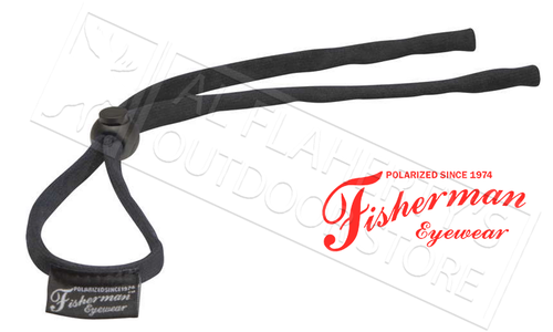 Fisherman Eyewear Soft Retaining Cord for Glasses, Black #90962