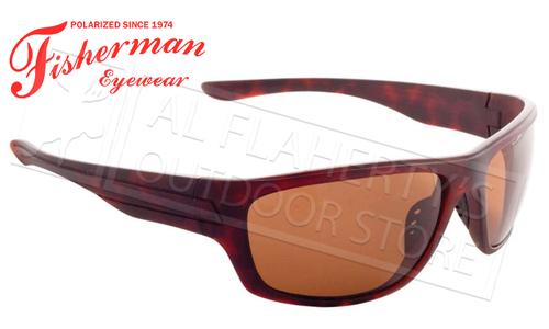 Fisherman Eyewear Striper Polarized Glasses, Matte Brown Tortoise Frame with Brown Lens #96100355