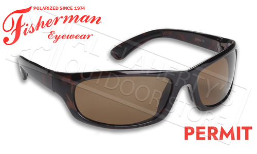 Fisherman Eyewear Permit Polarized Sunglasses, Brown Tortoise Frame with Brown Lens #90618