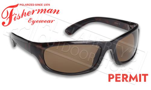 Fisherman Eyewear Permit Polarized Sunglasses, Brown Tortoise Frame with Brown Lens #90618