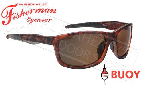 Fisherman Eyewear Buoy Polarized Sunglasses - Floating, Matte Tortoise Frame with Brown Lens #50643202