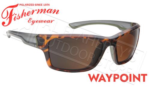 Fisherman Eyewear Waypoint Polarized Sunglasses, Matte Tortoise Frame with Brown Lens #50663202