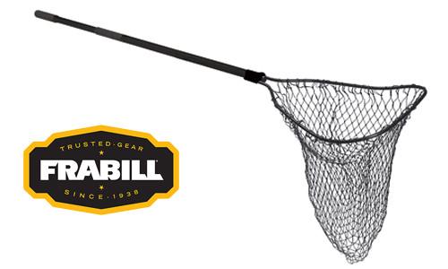 "Frabill Tru-Trax Scooper Landing Net, 21"" x 25"", 24"" to 48"" Handle #3811"
