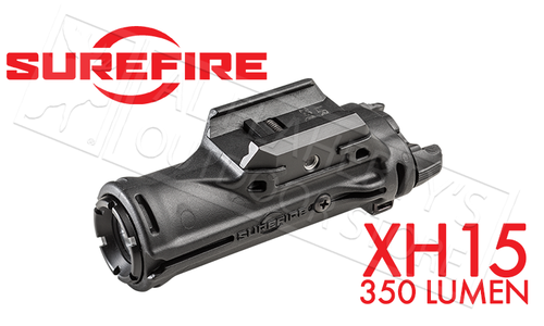 Surefire XH15 Polymer LED Light, 350 Lumen with Picatinny Mount #XH15