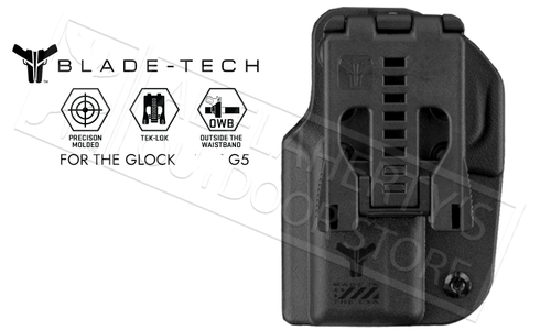 Blade-Tech Signature OWB Holster with Tek-Lok for Glock 19 and 23 Gen 5 Pistols #HOLX0008SG195ASBLKRH