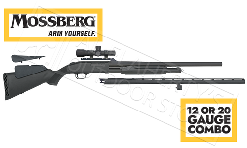 Mossberg 500 Combo Field & Deer in 12 or 20 Gauge with 2.5x Dead Ringer Scope