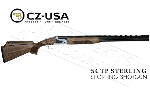 "CZ SCTP Sterling Over-Under Sporting Shotgun with Adjustable Comb, 12 Gauge 28"" Barrel #06491"