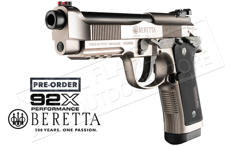 Pre-Order Beretta Handgun 92X Performance Production 9mm, Made in Italy #5W12111117111