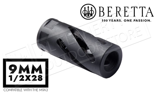 Beretta SWING muzzle brake, 1/2x28, 9mm barrel compatible #C5H937