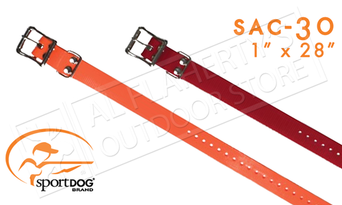 "SportDOG Replacement 1"" Collar Straps, Adjustable for Necks 8"" to 22"" #SAC30"