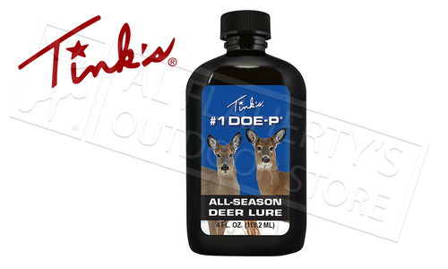 Tink's Number 1 Doe-P Classic All-Season Deer Lure 4 oz. Bottle #W6216