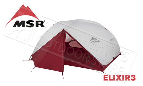 MSR Elixir 3 Lightweight Backpacking 3-Person Tent #02763