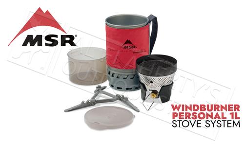 MSR WindBurner Personal Stove System 1L Red #09219