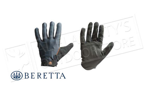 Beretta Leather Shooting Gloves in Black, M-XL #GL013L01060903