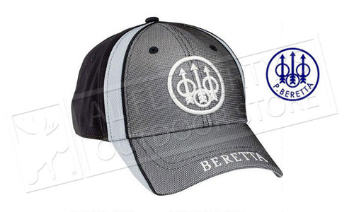 Beretta Tactical Cap with Trident Logo, Tri-toned Black/White/Grey, BT1291450999