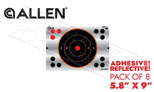 "Allen EZ Aim Reflective Bullseye Target 5.8"" Adhesive Pack of 8 #15230"