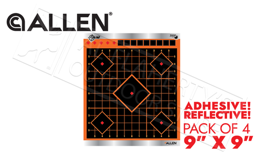 "Allen EZ Aim Reflective Sight In Target 9"" Adhesive Pack of 4 #15233"